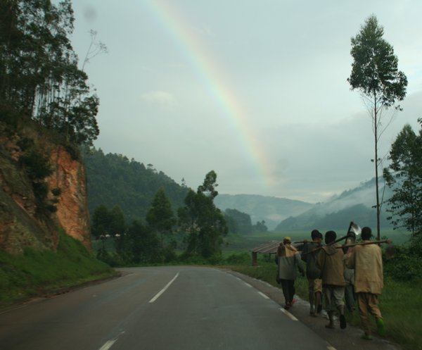 Rwandan Workers Headed Into Rainbow