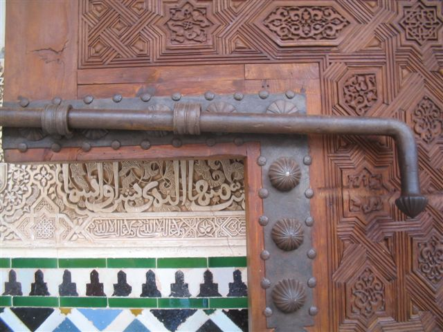 door and wall detail, Alhambra