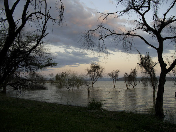 Lake Baringo at dusk