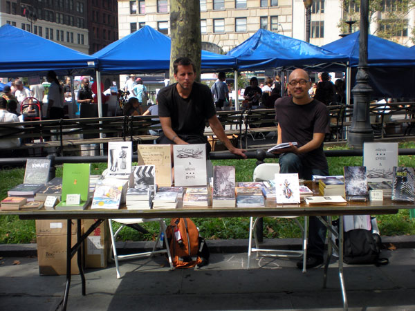 Derek White and Eugene Lim at Brookly Book Festival