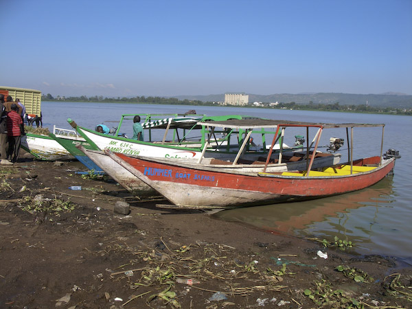 boats on Lake Victoria